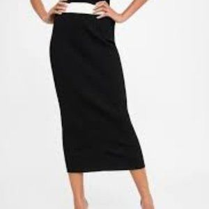 Two Toned ribbed knit skirt